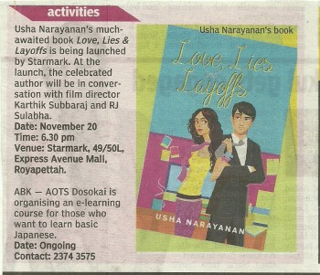 Starmark Deccan Chronicle Chennai Chronicle page 18 November 15th